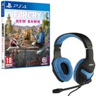 Casque gaming filaire Konix Nemesis + Far Cry New Dawn sur PS4