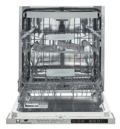 Lave-vaisselle encastrable Continental Edison Celve1545s1 - Cuve Inox, 15 couverts, 59.5 cm, 45 dB, demi charge, tiroir à couverts, E