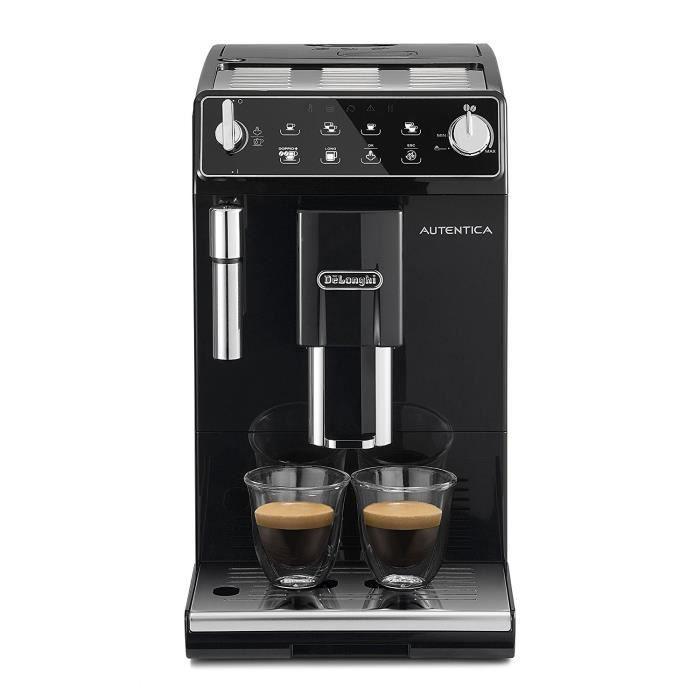 Machine à café avec broyeur Delonghi Autentica Doppio+ ETAM 29.510.B - Noir (via 140.76€ sur Carte Fidélité)