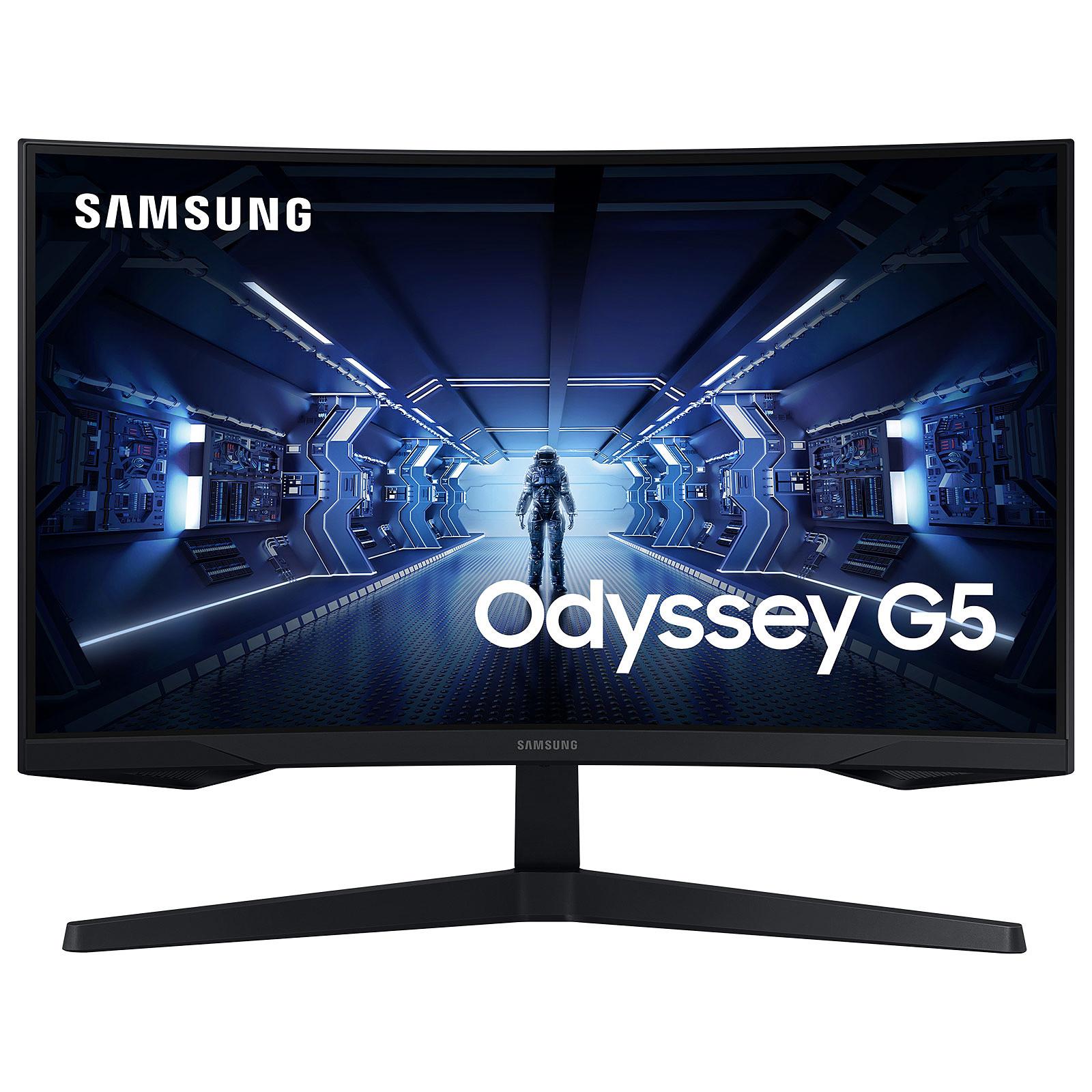"Écran PC Incurvé 27"" Samsung Odyssey G5 - WQHD (2560 x 1440), 144 Hz, Dalle VA, 1 ms, AMD FreeSync Premium"