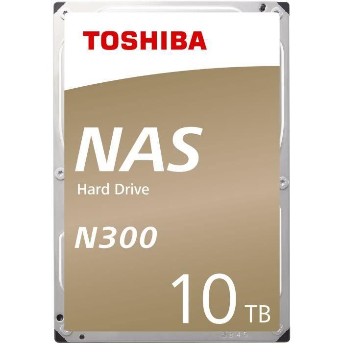 "Disque dur interne 3.5"" Toshiba N300 - NAS, 10 To, 7200 tr/min"