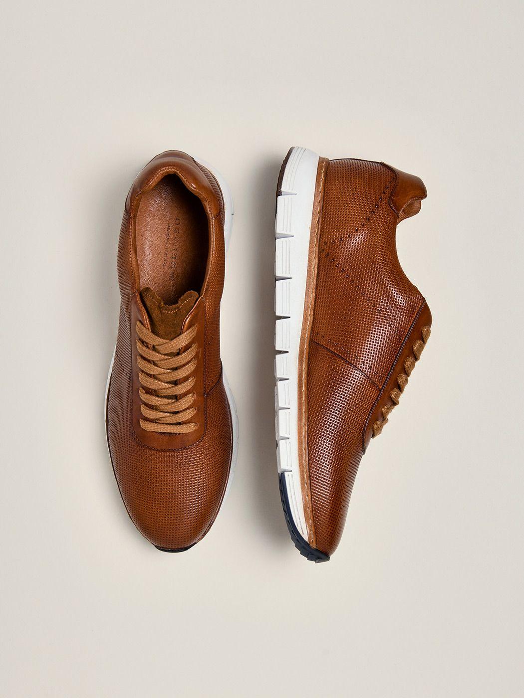 Chaussures homme en cuir marron clair