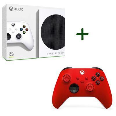 Pack Xbox : Console Xbox Series S - 512Go + 2ème manette Xbox Series sans fil