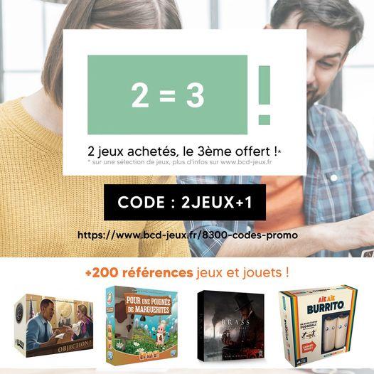 2 jeux de société achetés parmi une sélection = 1 offert (le moins cher) - BCD-Jeux.fr