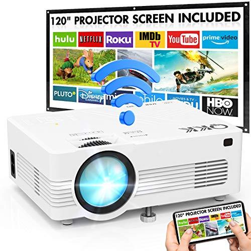 Vidéo-projecteur QKK - 720p, support du full HD, Wi-Fi (Vendeur Tiers)