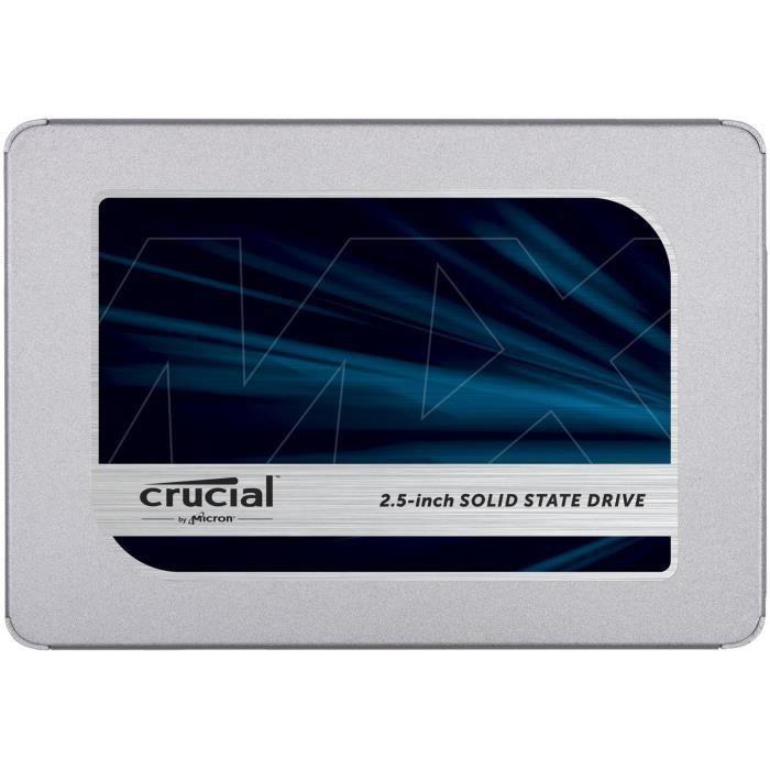 """SSD Interne 2.5"""" Crucial MX500 - 500Go"""