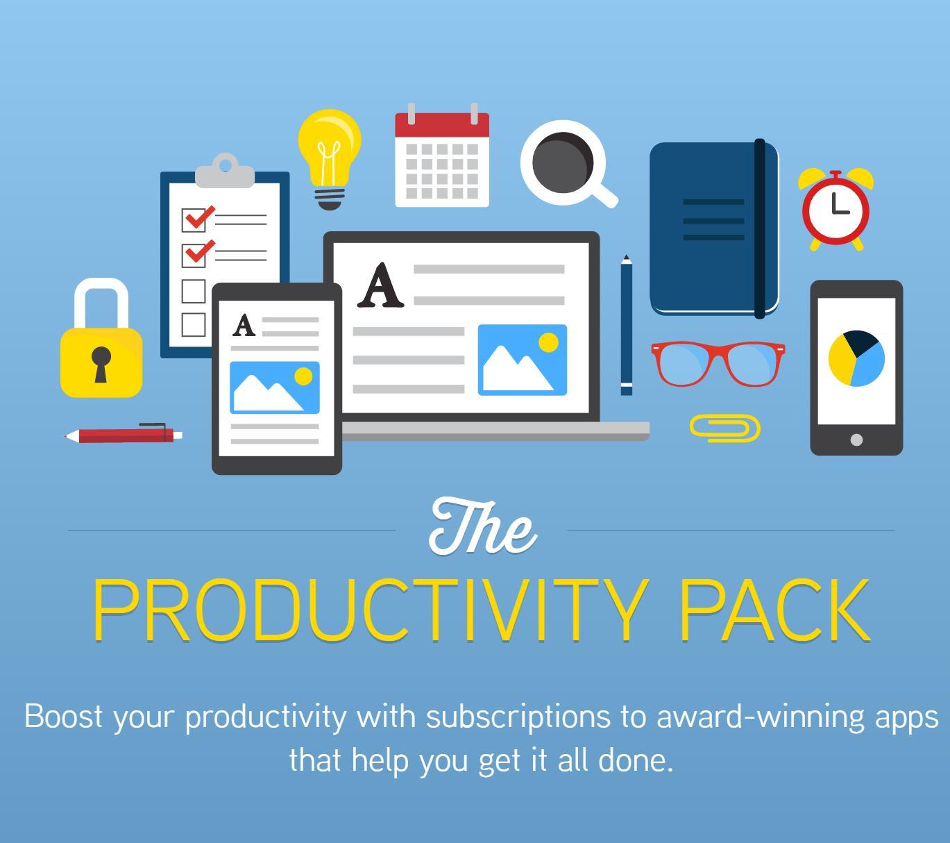 Bundle Productivity Pack : Pocket Premium, Wunderlist Pro, LastPass Premium, etc..