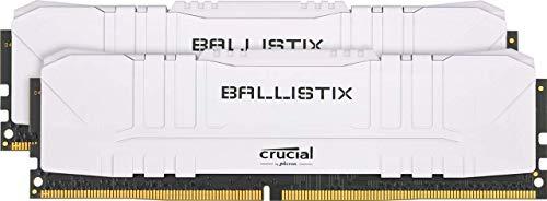 Kit Mémoire DDR4 Crucial Ballistix BL2K16G32C16U4W 32 Go (2x 16 Go) - 3200 MHz, CL16, Blanc