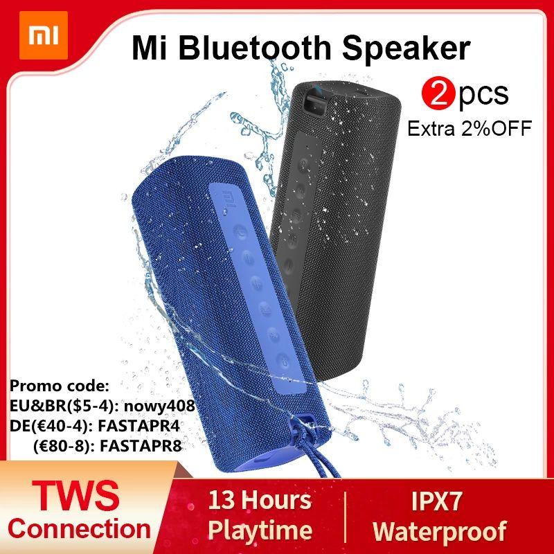 Enceinte sans fil Xiaomi Mi Bluetooth Speaker bleu ou noir , 16W (Entrepôt France - 23,54€ Via Code AEKOLMAR2)