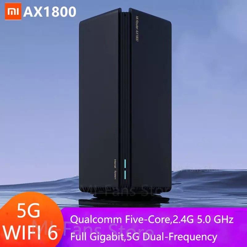 Routeur Xiaomi AX1800 - Wi-Fi 6 bi-bande, Mesh, 1775Mbps + Adaptateur EU