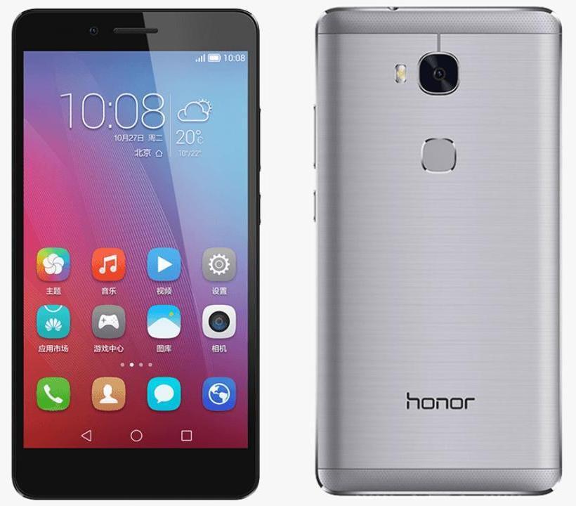 """Smartphone 5.5"""" Honor 5X Dual Sim Gris - IPS 1920x1080,  Snapdragon 615 1.5Ghz, RAM 2Go, 16Go, Android 5.1 +  Carte microSDHC Lexar 32 Go (via ODR 30€)"""