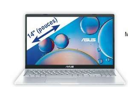 "Pc portable 14"" Asus F415JA-BV394T - HD, RAM 8Go, SSD 256Go, Core i3-1005G1, Intel UHD Graphics"