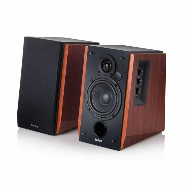 Paire d'Enceintes actives 2.0 - Edifier Studio R1700BT Bois - Bluetooth, RCA, Télécomande, 66W (Vendeur tiers)