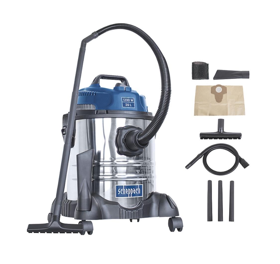 Aspirateur eau et poussière Scheppach - 20L, 1200W