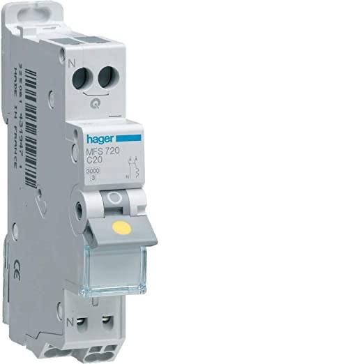 Disjoncteur Hager 10A MFS SanVis 1P+N 3kA (Vendeur tiers)