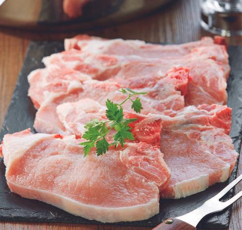 Porc : Côte avec Os Première, Échine ou Filet à griller (Le Kg - Caissette de 10 Pièces minimum)