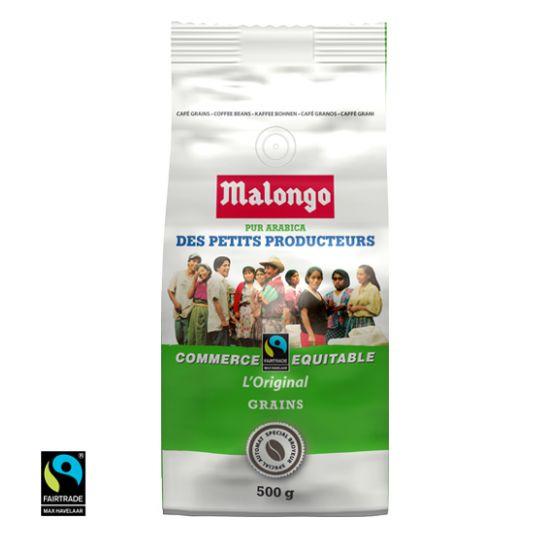 Café Malongo des Petits Producteurs (commerce équitable) en grains ou moulu (500g)