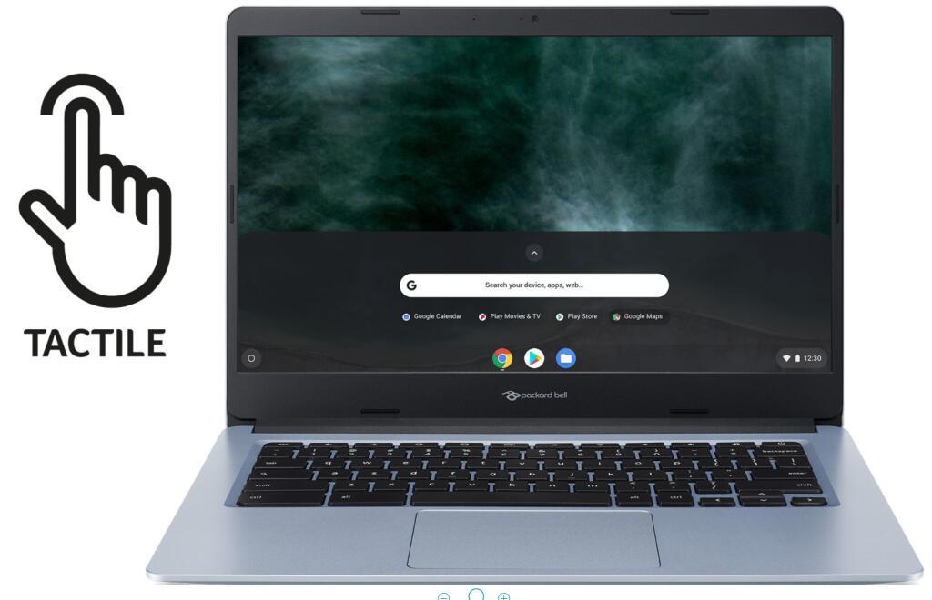 "PC Portable 14"" Chromebook Packard Bell CB314-002 Touch - HD Tactile, Intel Celeron N4000, 4 Go RAM, 32 Go eMMC + Garantie 3 ans"