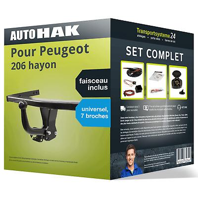 Pack Attelage complet Auto Hak pour Peugeot 206 hayon 98 - Faisceau inclus, Universel 7 broches (65.45€ avec le code PROFITE15)