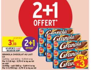 Lot de 9 paquets de Biscuits Granola