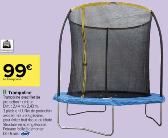 Trampoline avec filet de protection