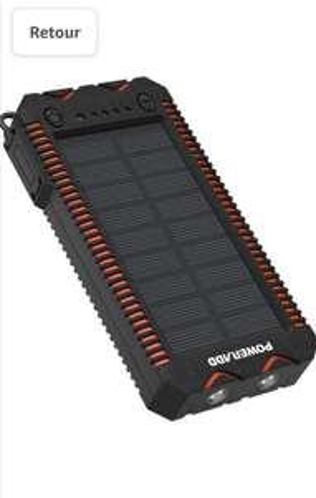 Batterie Externe Solaire Poweradd - 12000mAh (Vendeur tiers)