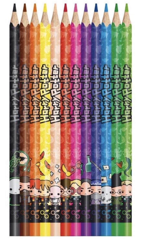 12 Crayons de Couleur Maped Harry Potter