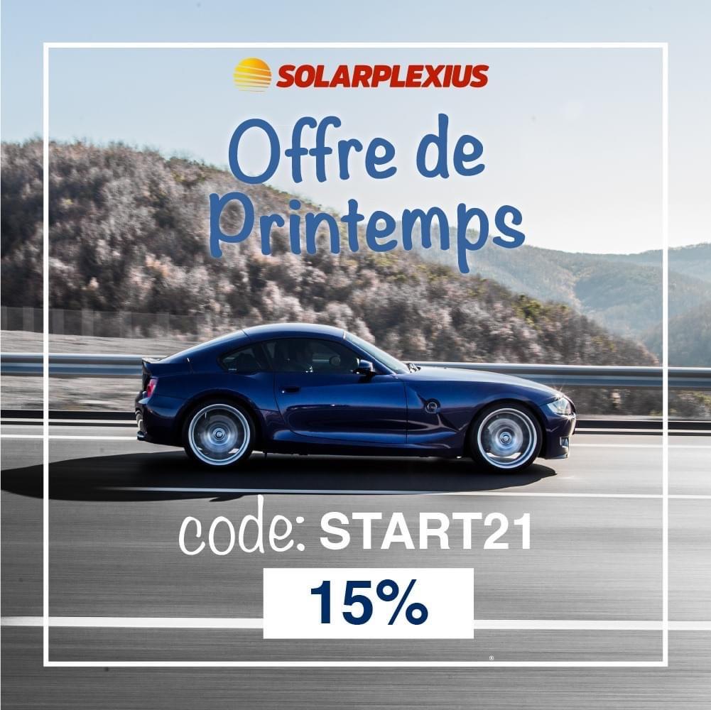15% de réduction sur le site (solarplexius.fr)