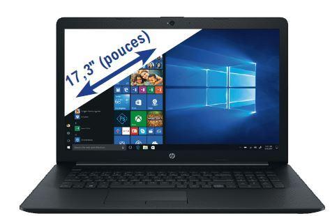"""PC Portable 17"""" HP 17-BY4023NF - HD+, i3-1115G4, 8 Go RAM, SSD 256 Go + 1 To HDD, Windows 10"""