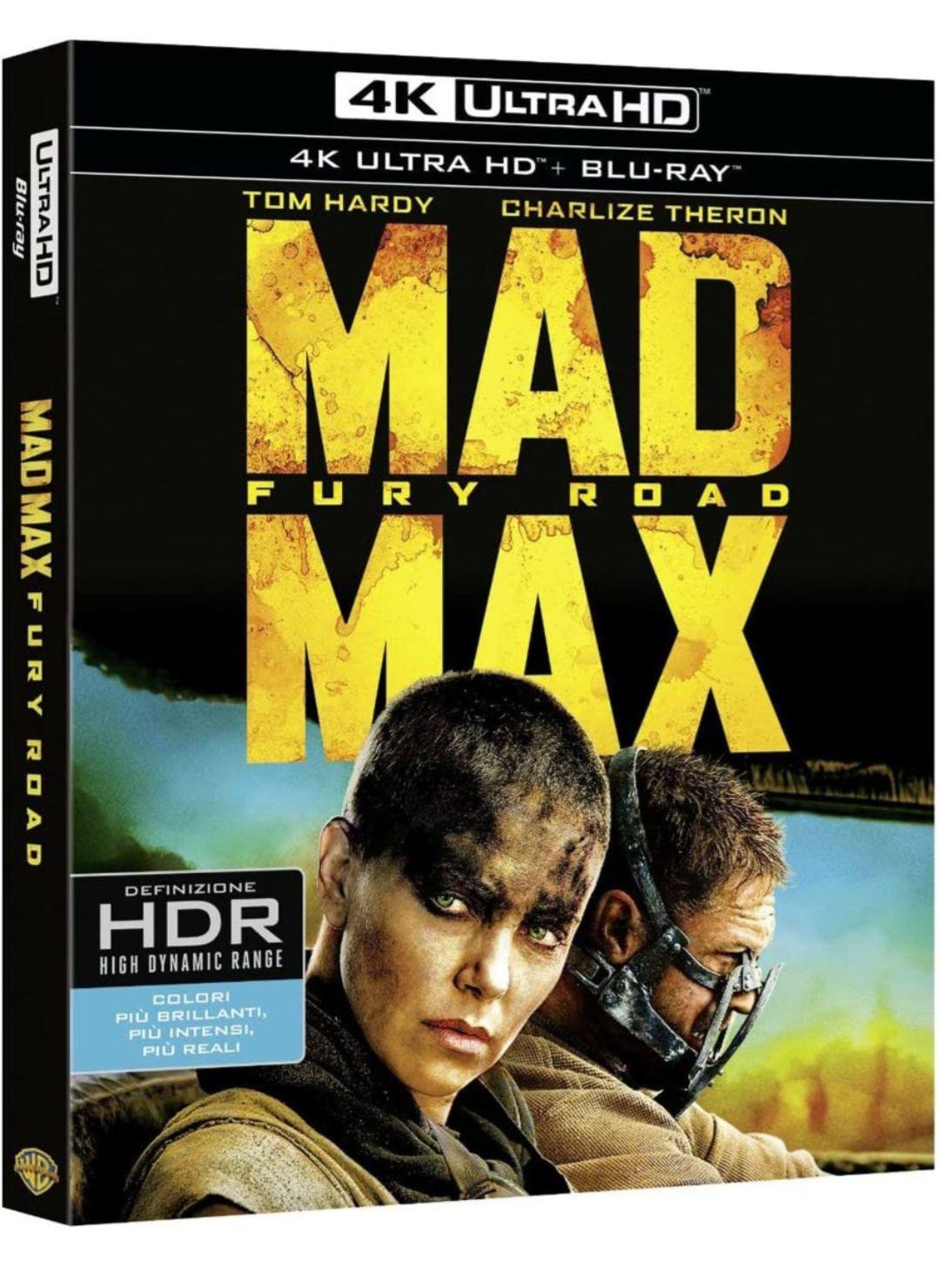Blu-ray 4K Mad Max : Fury Road (import italien)