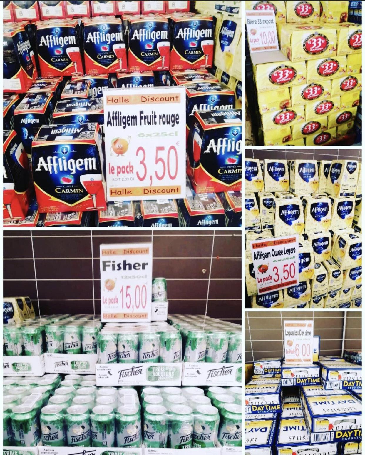 Sélection de packs de bières en promotion - Ex : Pack de 6 bières Affligem Cuvee Légère (6x 25cl) - Halle O Discount Lognes (77)