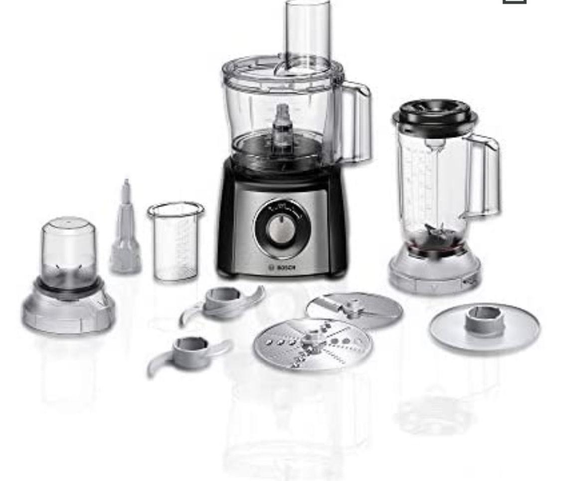 Robot de cuisine multifonction Bosch MultiTalent 3 MCM3501M - 800 W, 2.3 L, Inox Brossé (20% remboursement ODR)
