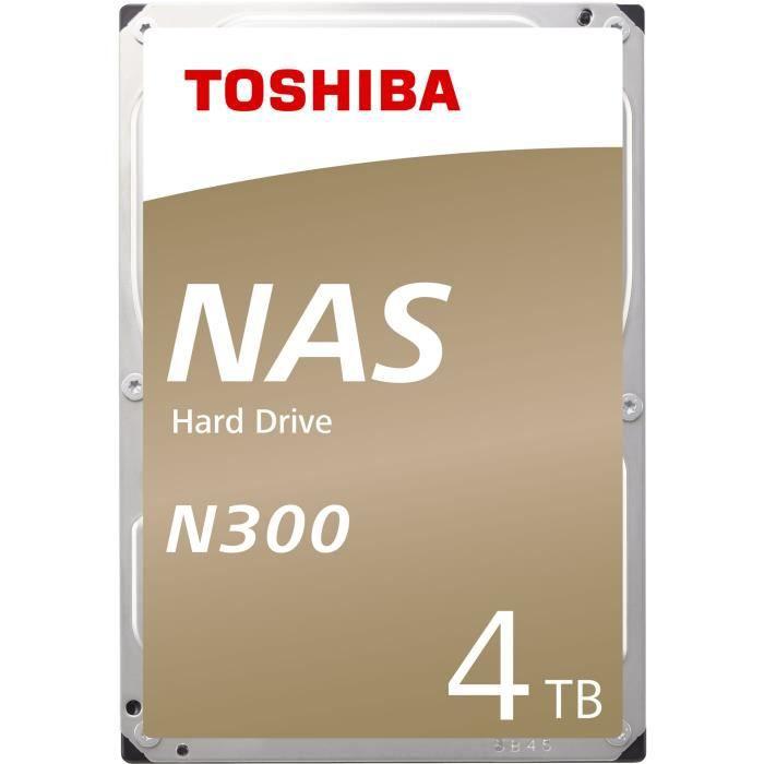 """Disque dur interne 3.5"""" Toshiba N300 - 4 To, 7200 tours/min"""