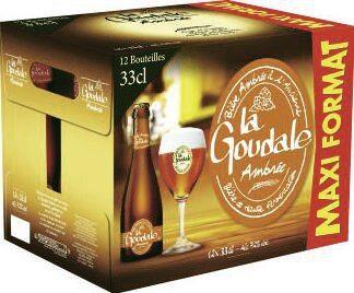 Pack de 12 bouteilles de bière ambrée à l'ancienne La Goudale (12 x 33cl)