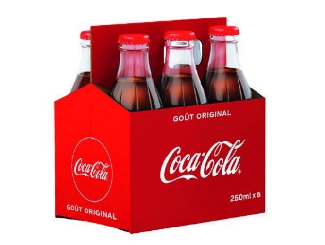 2 lots de 6 bouteilles en verres coca cola original 25cl