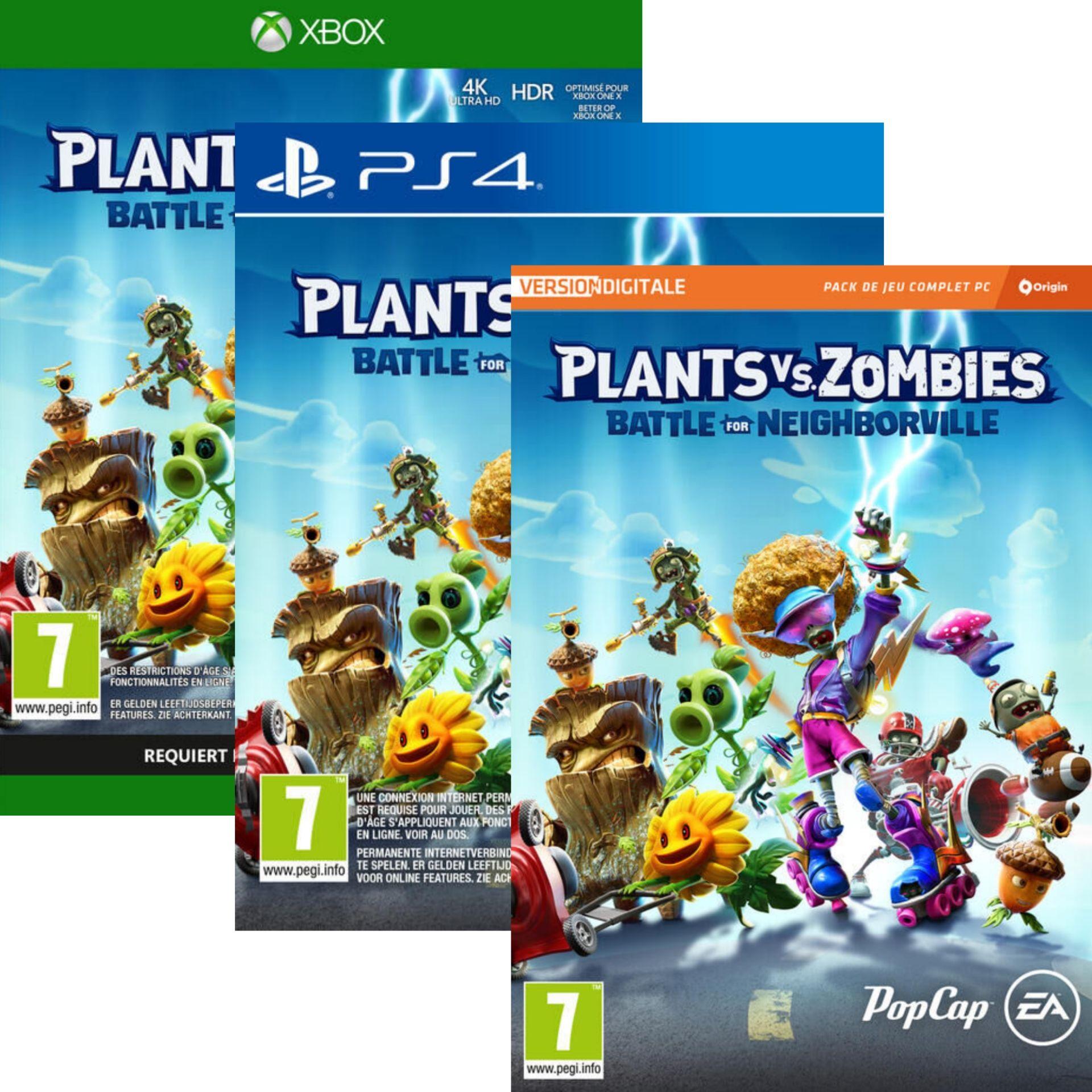 Plants Vs Zombies Battle For Neighborville sur PS4 ou Xbox One à 9,99€ ou 4,99€ sur PC