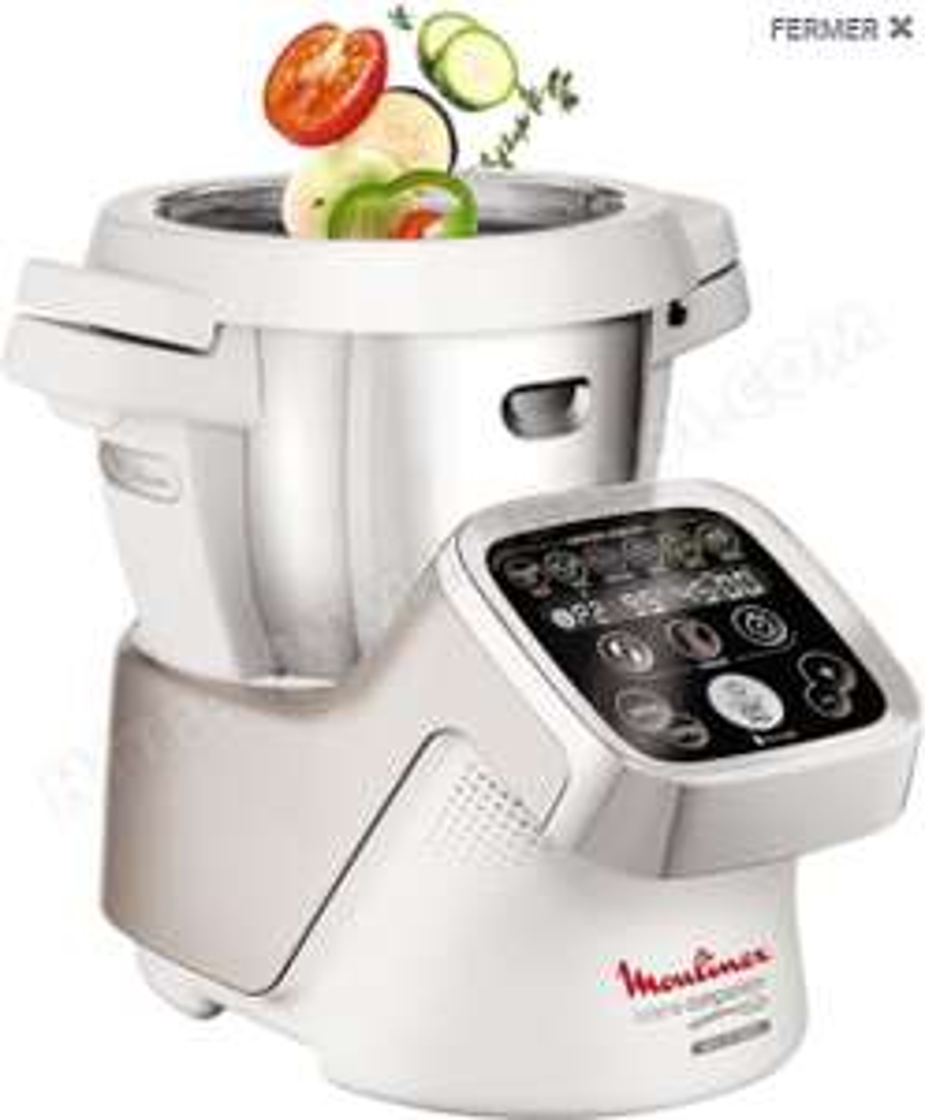 Robot chauffant multifonction moulinex Companion HF800 A12 - Blanc