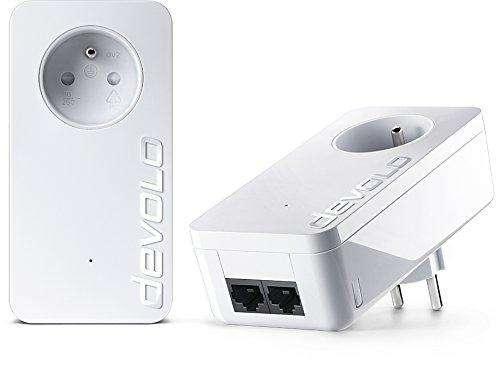Pack de 2 CPL Devolo 9298 dLAN 550 Duo+ - avec Prise Réseau