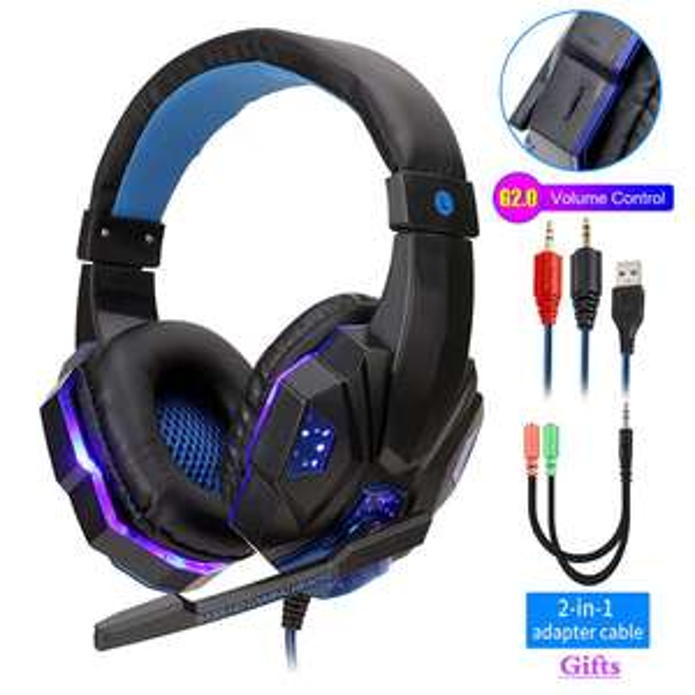 [Nouveaux clients] Casque-Micro gaming filaire pour PC/PS4/Xbox avec LED (Coloris au choix)