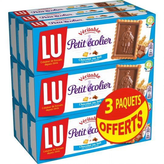 Lot de 9 paquets Lu Petit Ecolier - 6 x 150 g