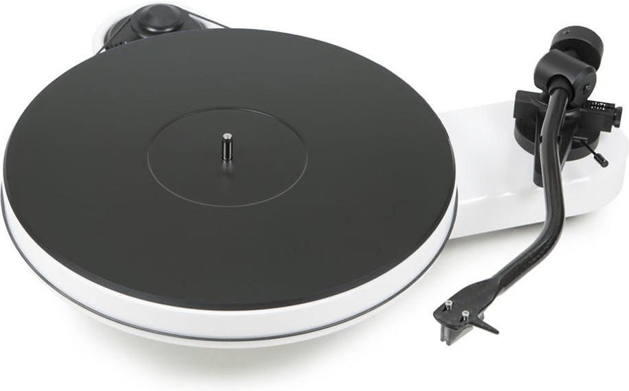 Platine vinyle Pro-Ject RPM 3 Carbon - avec cellule Ortofon 2M Silver, blanc