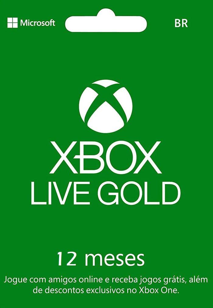 Abonnement de 12 mois au Xbox Live Gold (Dématérialisé - Compte BR)