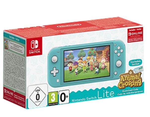 Console Nintendo Switch Lite + Jeu Animal Crossing New Horizons + 3 mois de Online (Via 30€ sur la carte fidélité)
