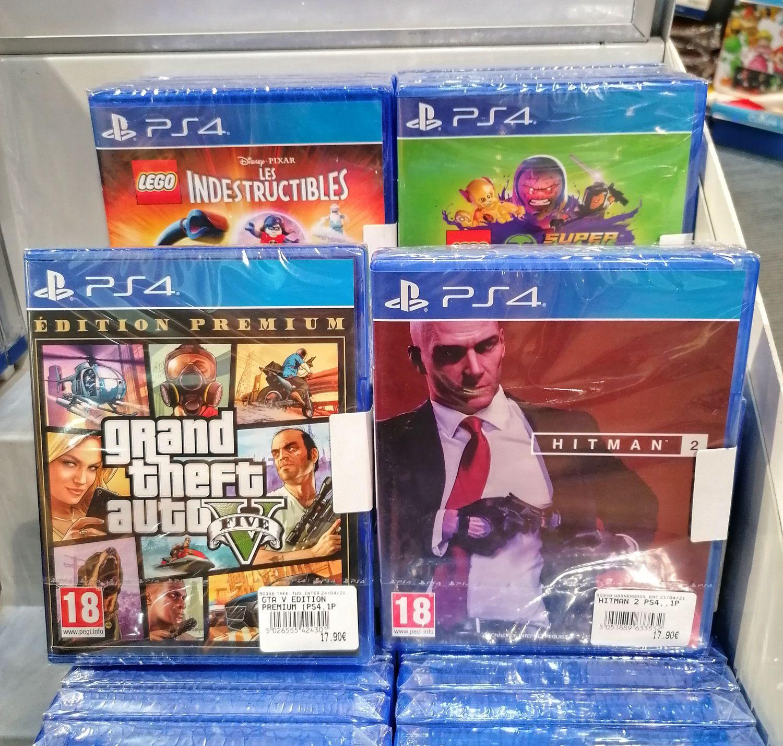 Sélection de jeux vidéo sur PS4 en promotion - Ex : GTA V - Edition Premium ou Hitman 2 à 17.9€ - Olivet (45)