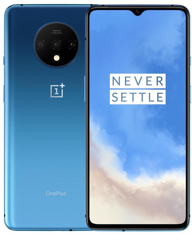 """Smartphone 6.55"""" Oneplus 7T - Full HD+ 90 Hz, Snapdragon 855 Plus, RAM 8 Go, 128 Go, Argent ou Bleu (Entrepôt France) - Vendeur tiers"""