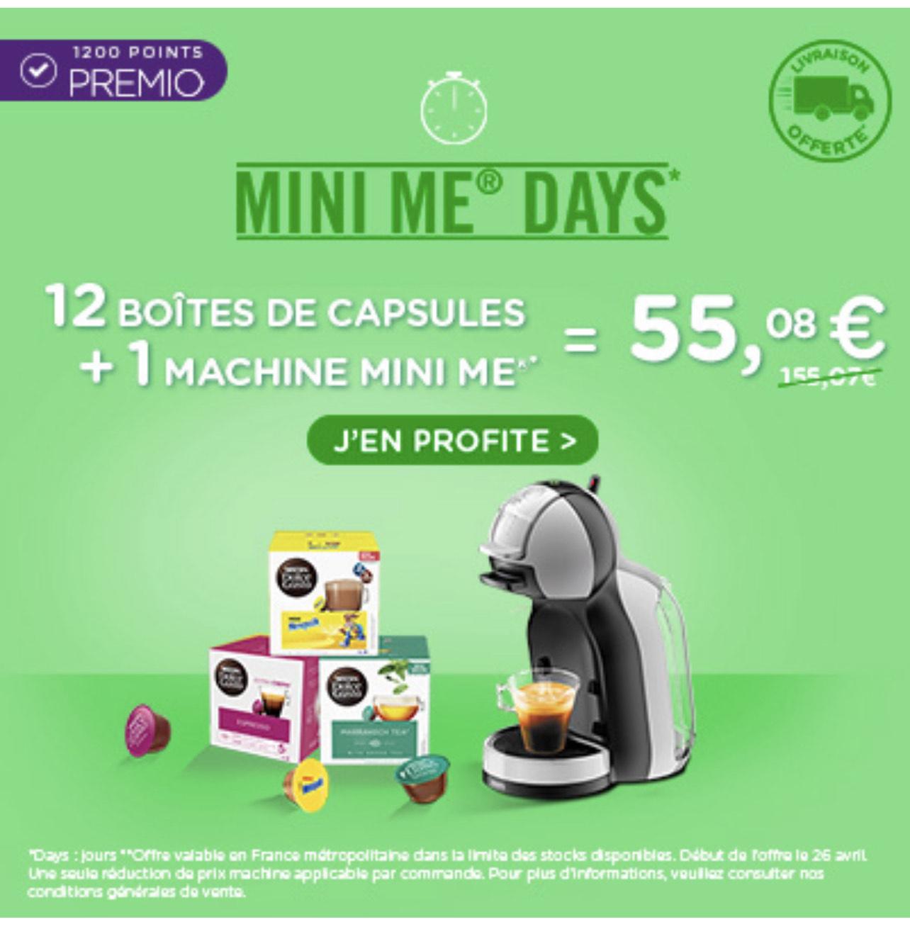 Machine à café à capsules Krups Nescafé Dolce Gusto Mini Me + 12 Paquets de 16 Capsules Nescafé Dolce Gusto