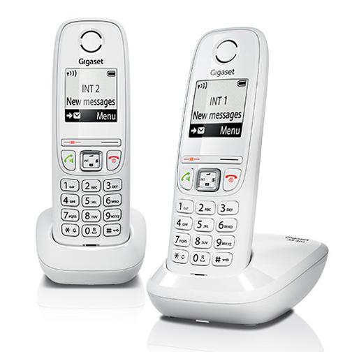 Pack de 2 téléphones fixes Gigaset AS405 Duo