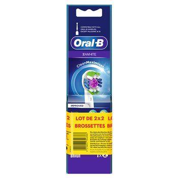 Brossettes Oral-B 3D White Cleanmaximiser - 2x2 brossettes (via BDR)