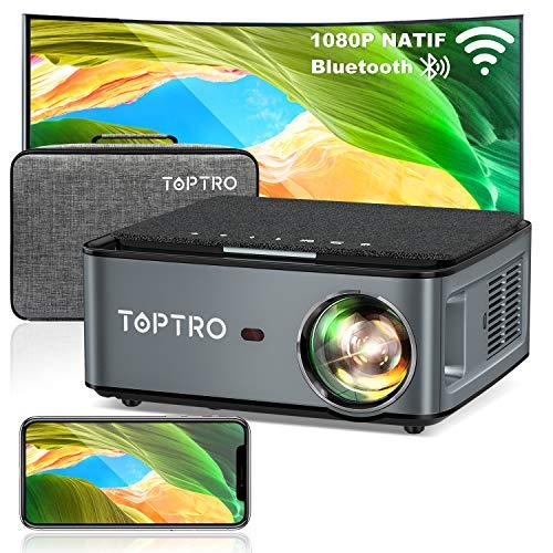 Vidéoprojecteur Toptro X1 - Full HD, 7500 Lumens, WiFi, Bluetooth (Via coupon - Vendeur tiers)