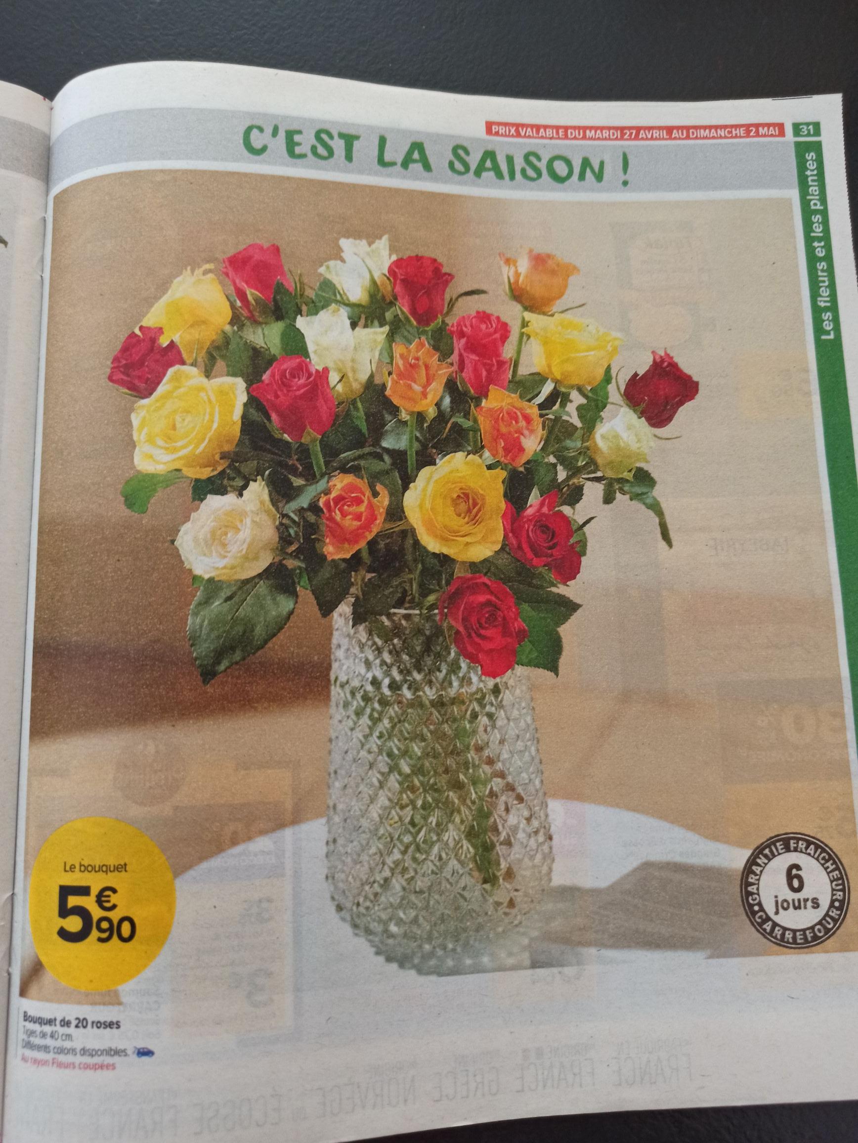 Bouquet de 20 roses